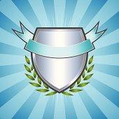 Emblem Logo Crest with Burst