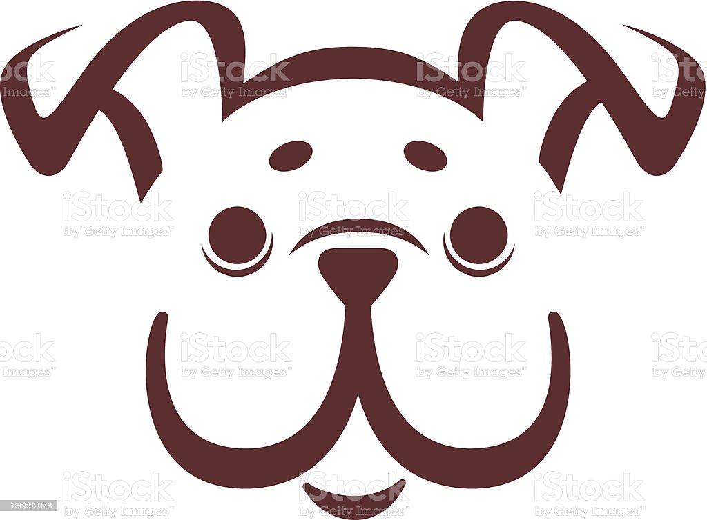 emblem of a dog vector art illustration