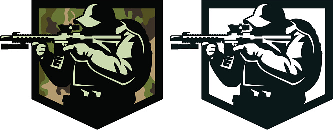 Emblem of a soldier