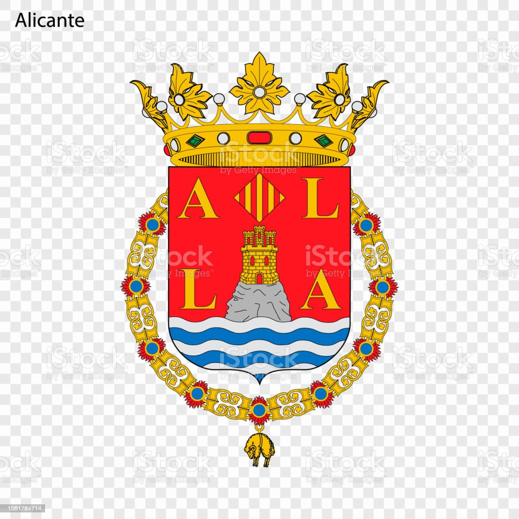 Emblem Of Alicante City Of Spain Stock Vector Art & More Images of