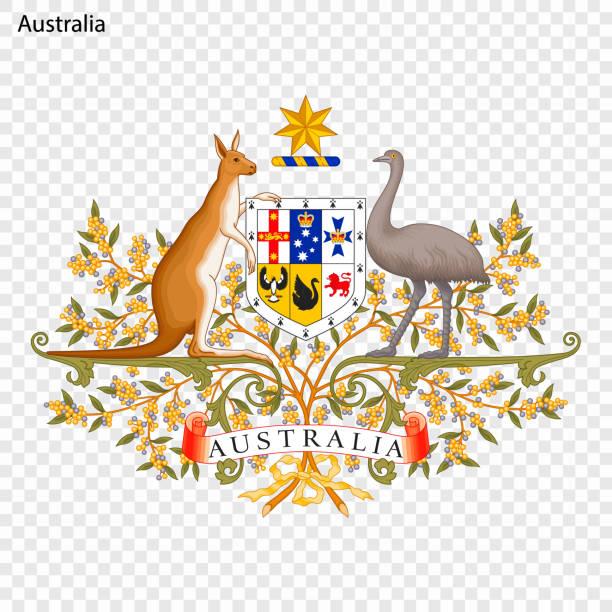 bildbanksillustrationer, clip art samt tecknat material och ikoner med emblem av australien - australia