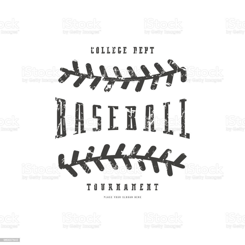 Emblem of baseball team vector art illustration