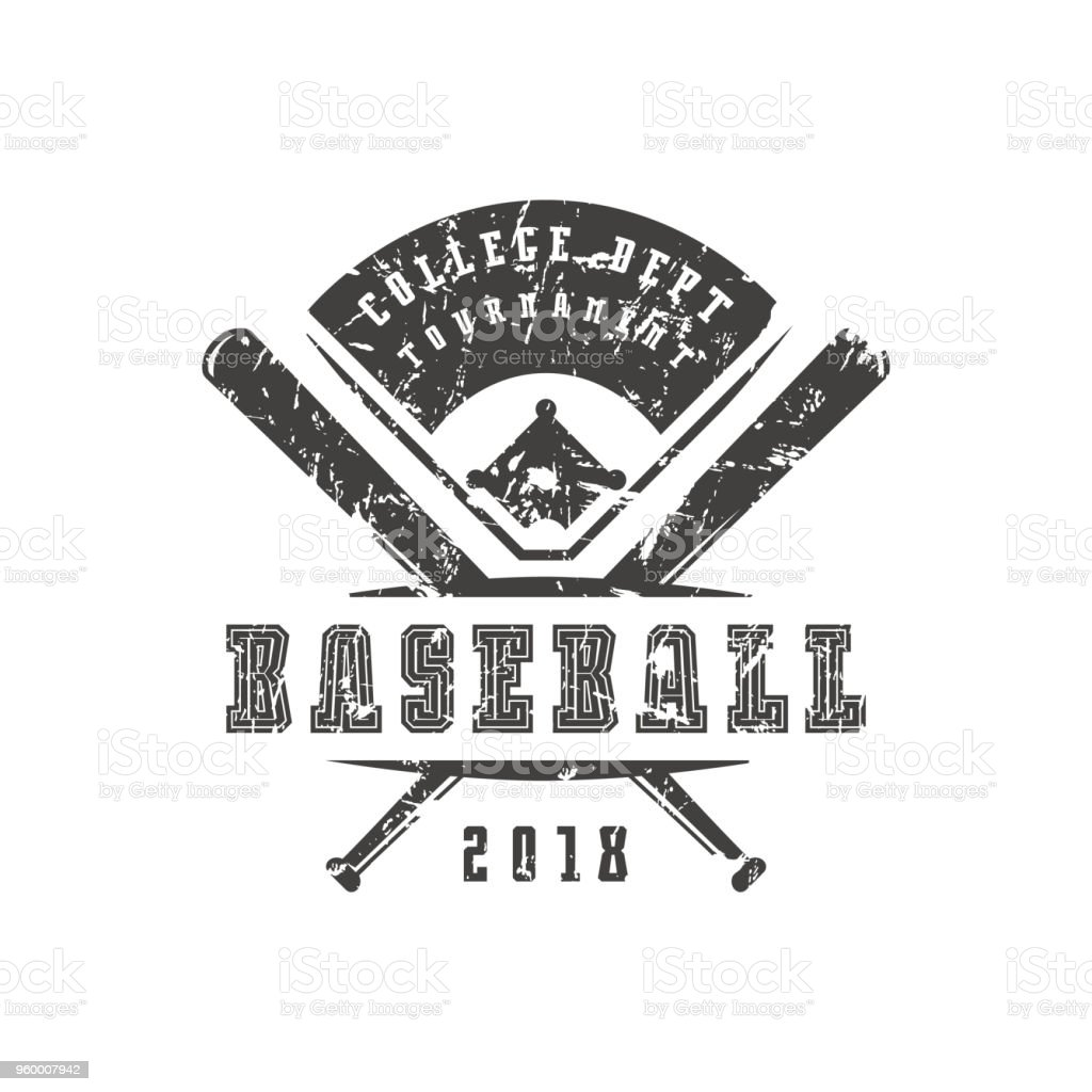 b04ce3bc91f Emblem Of Baseball Tournament Stock Vector Art & More Images of ...