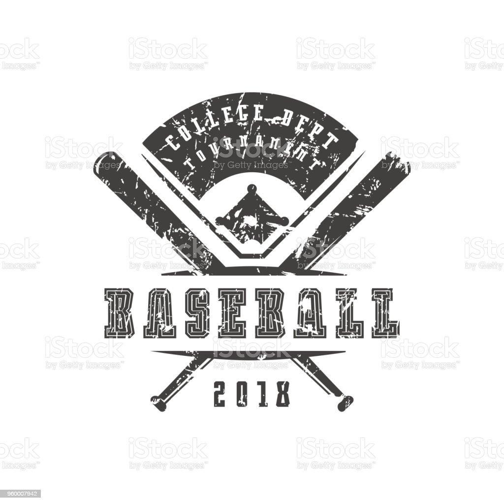 b04ce3bc91f Emblem Of Baseball Tournament Stock Vector Art & More Images of ...