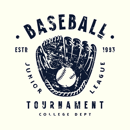 Emblem of baseball tournament with a picture of glove