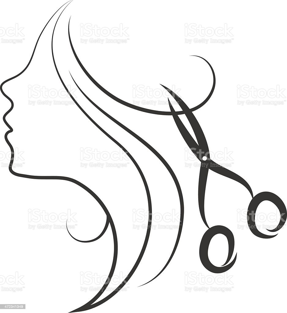 emblem of beauty salon royalty-free stock vector art