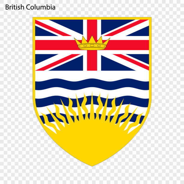 Emblem of British Columbia, province of Canada. Vector illustration Emblem of British Columbia, province of Canada. Vector illustration british columbia stock illustrations