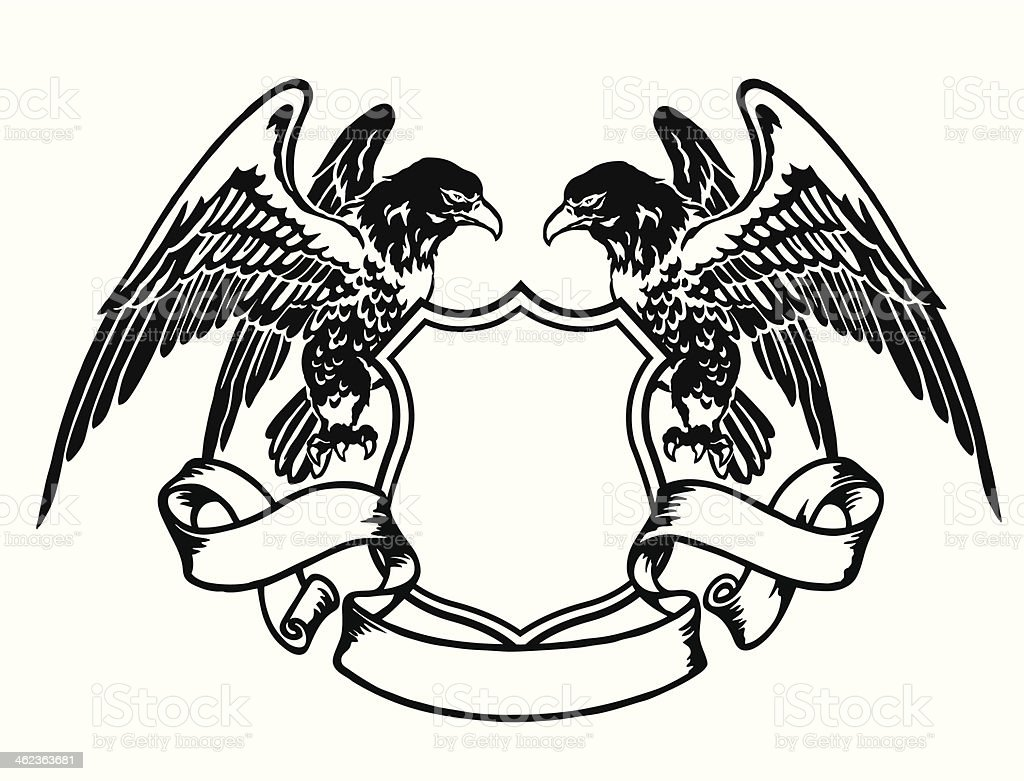 emblem of eagle vector art illustration