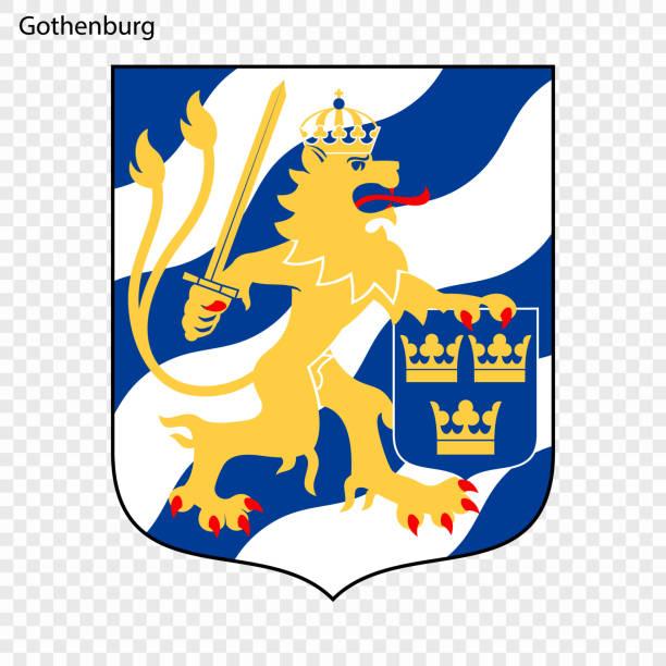 bildbanksillustrationer, clip art samt tecknat material och ikoner med emblem av göteborg - gothenburg