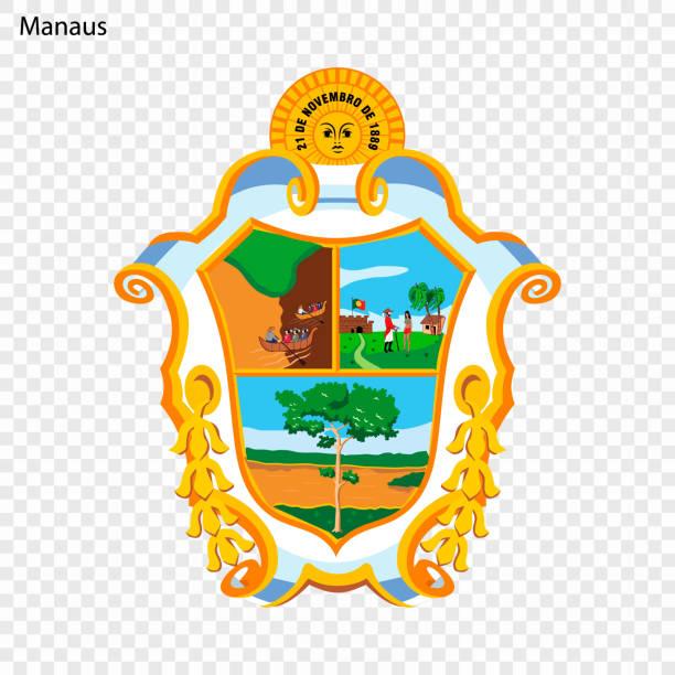 ilustrações, clipart, desenhos animados e ícones de emblema de manaus - manaus