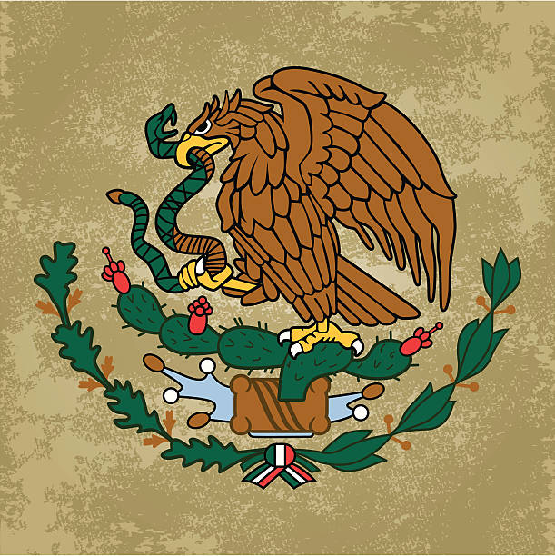 Emblem of Mexico vector art illustration