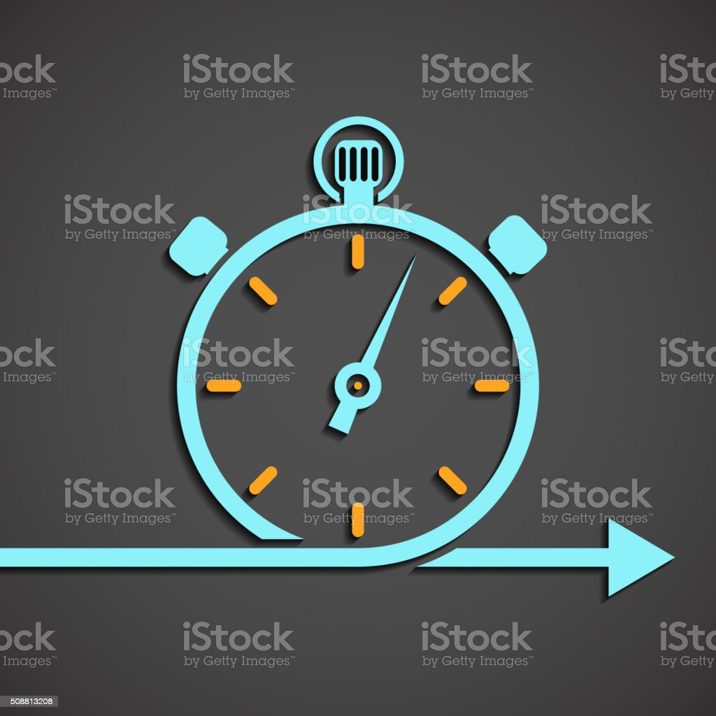 emblem of the chronometer vector art illustration