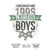 Emblem of the fearless riders boys in retro style