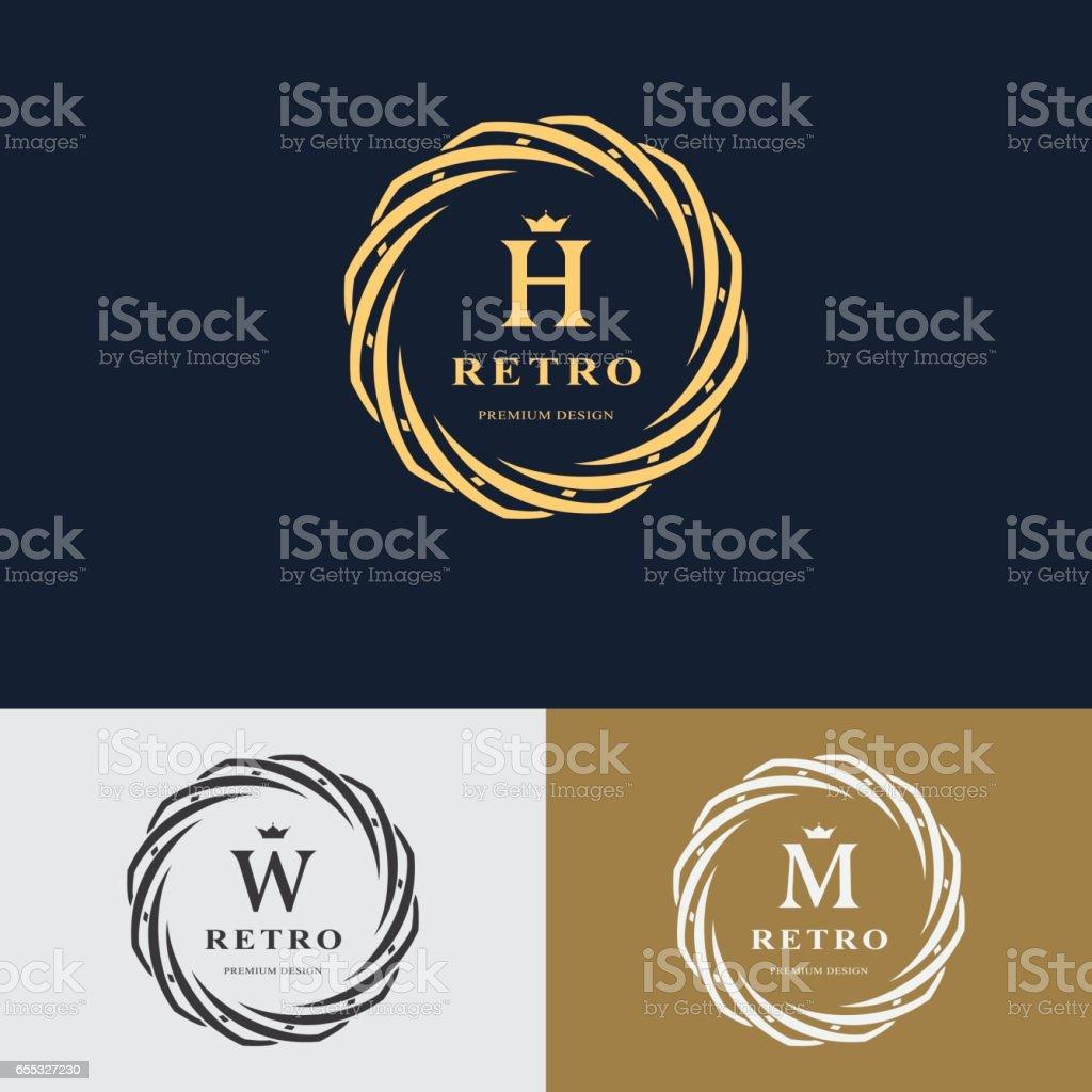Banderole Carte De Visite Cercle Forme Lettre