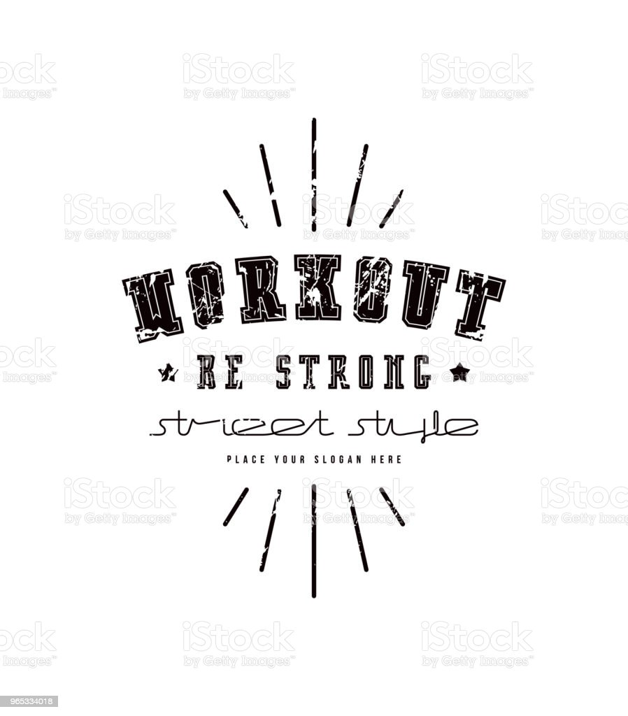 Emblem of workout club emblem of workout club - stockowe grafiki wektorowe i więcej obrazów autorytet royalty-free