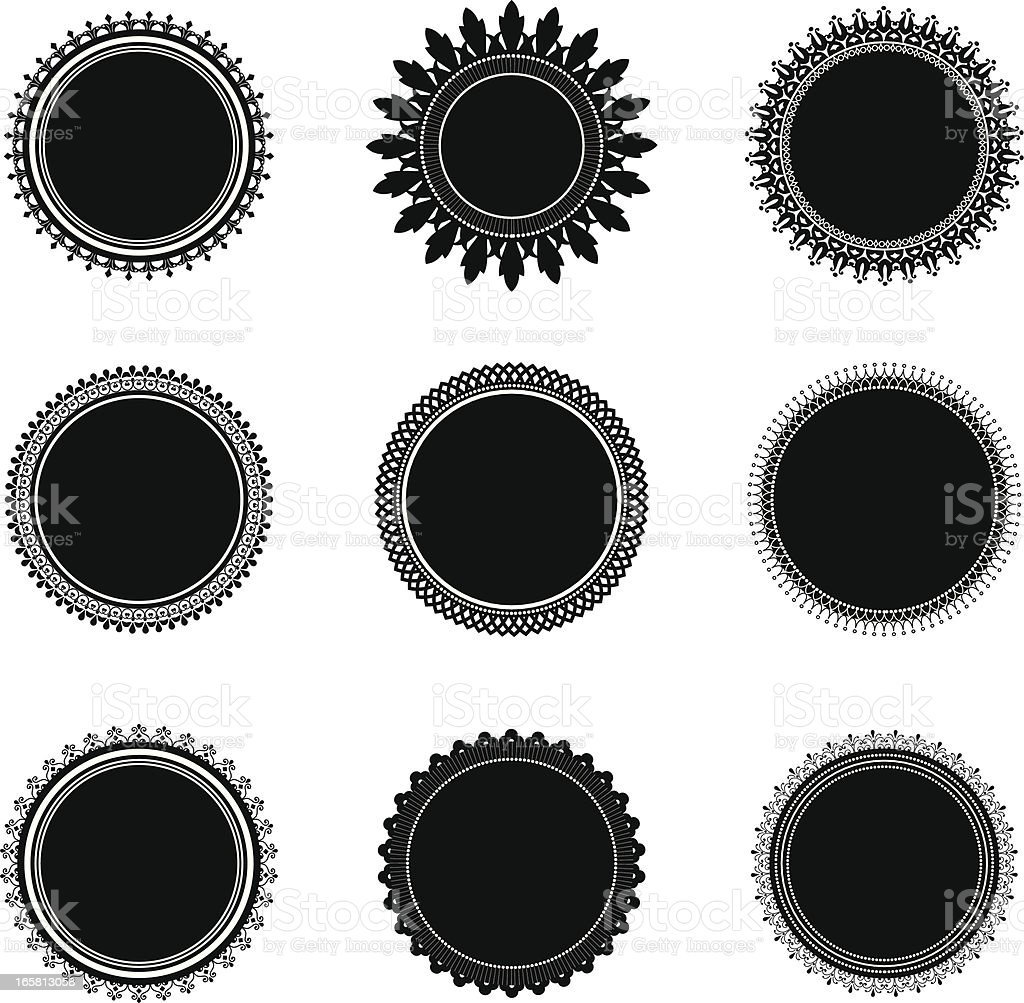 Emblem Seals royalty-free stock vector art