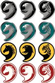 emblem of animal head