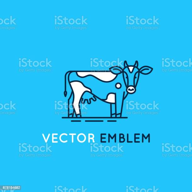 Emblem with cow illustration for milk and dairy industry vector id878154682?b=1&k=6&m=878154682&s=612x612&h=lpsdvnohqjiudlcwaw6xns6mtqtzwvtanrrsczl2xzy=