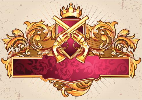 Emblem with guns