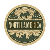 Emblem with the text North America