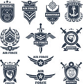 Emblems and badges for air and ground forces