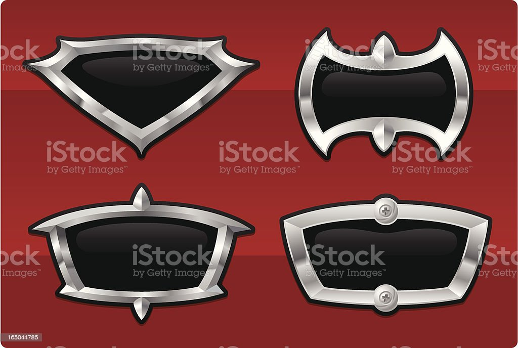 Emblems - Black and Chrome royalty-free stock vector art