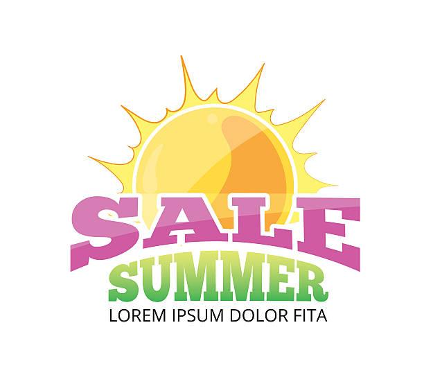 Emblems for big summer sales vector art illustration