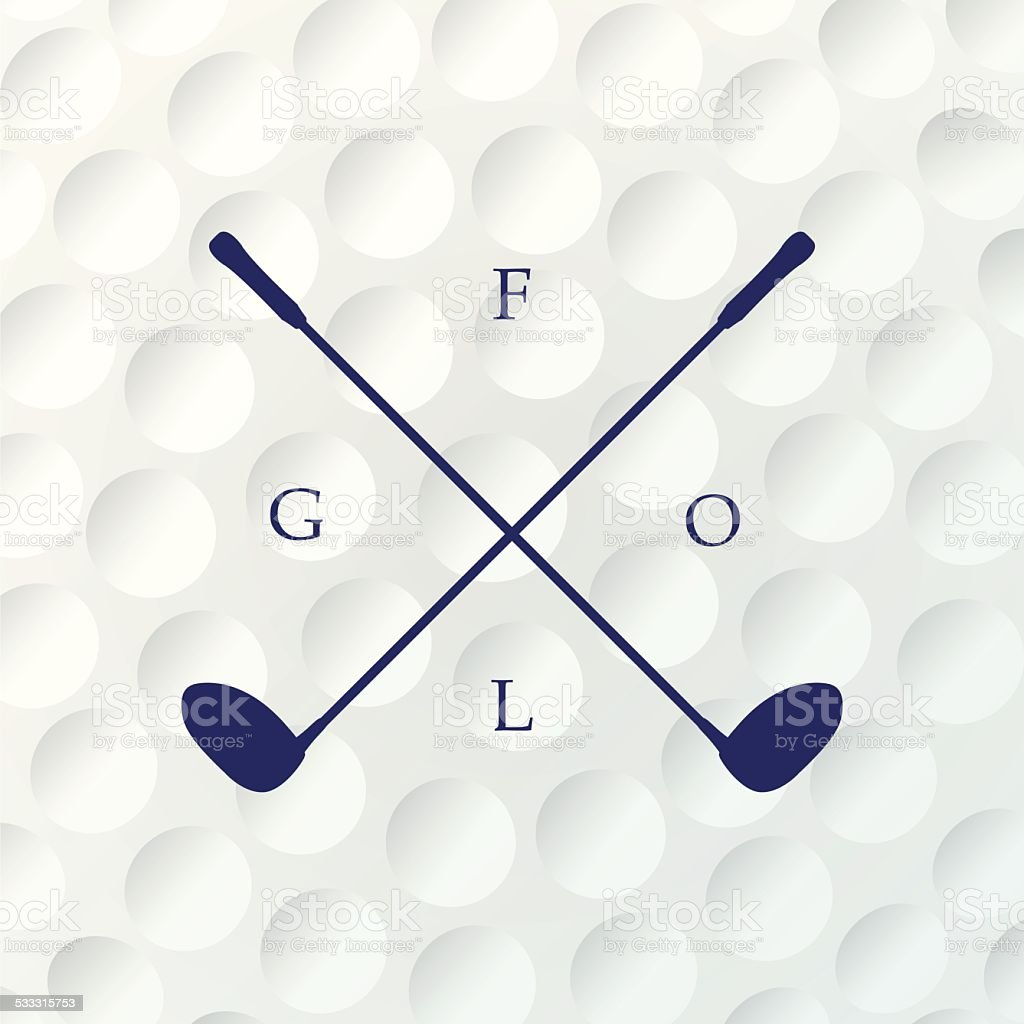 Emblems golf clubs. Retro label design. vector art illustration