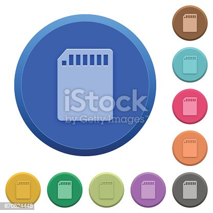 istock Embossed SD memory card buttons 670524448