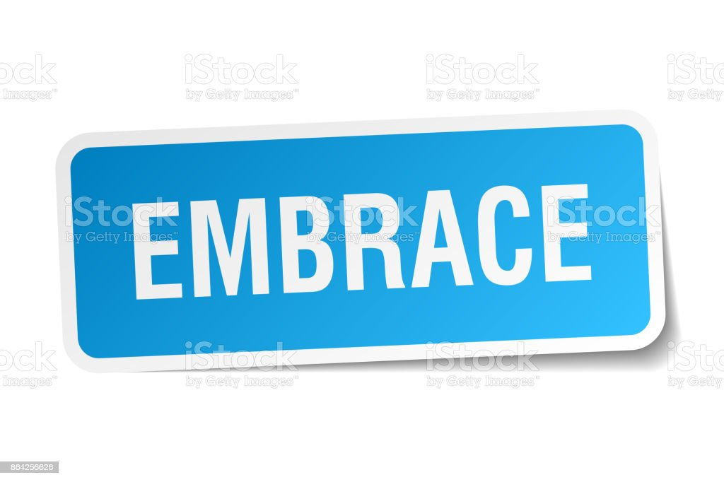 embrace square sticker on white royalty-free embrace square sticker on white stock vector art & more images of badge