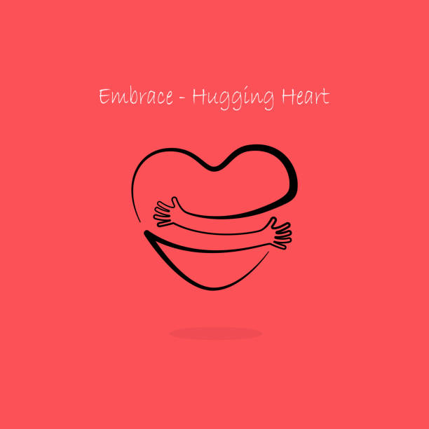 Embrace,Hugging heart symbol.Hug yourself icon.Love yourself sign.Love and Heart Care icon.Hand with Heart shape and healthcare & medical concept. Embrace,Hugging heart symbol.Hug yourself icon.Love yourself sign.Love and Heart Care icon.Hand with Heart shape and healthcare & medical concept.Vector illustration hug stock illustrations