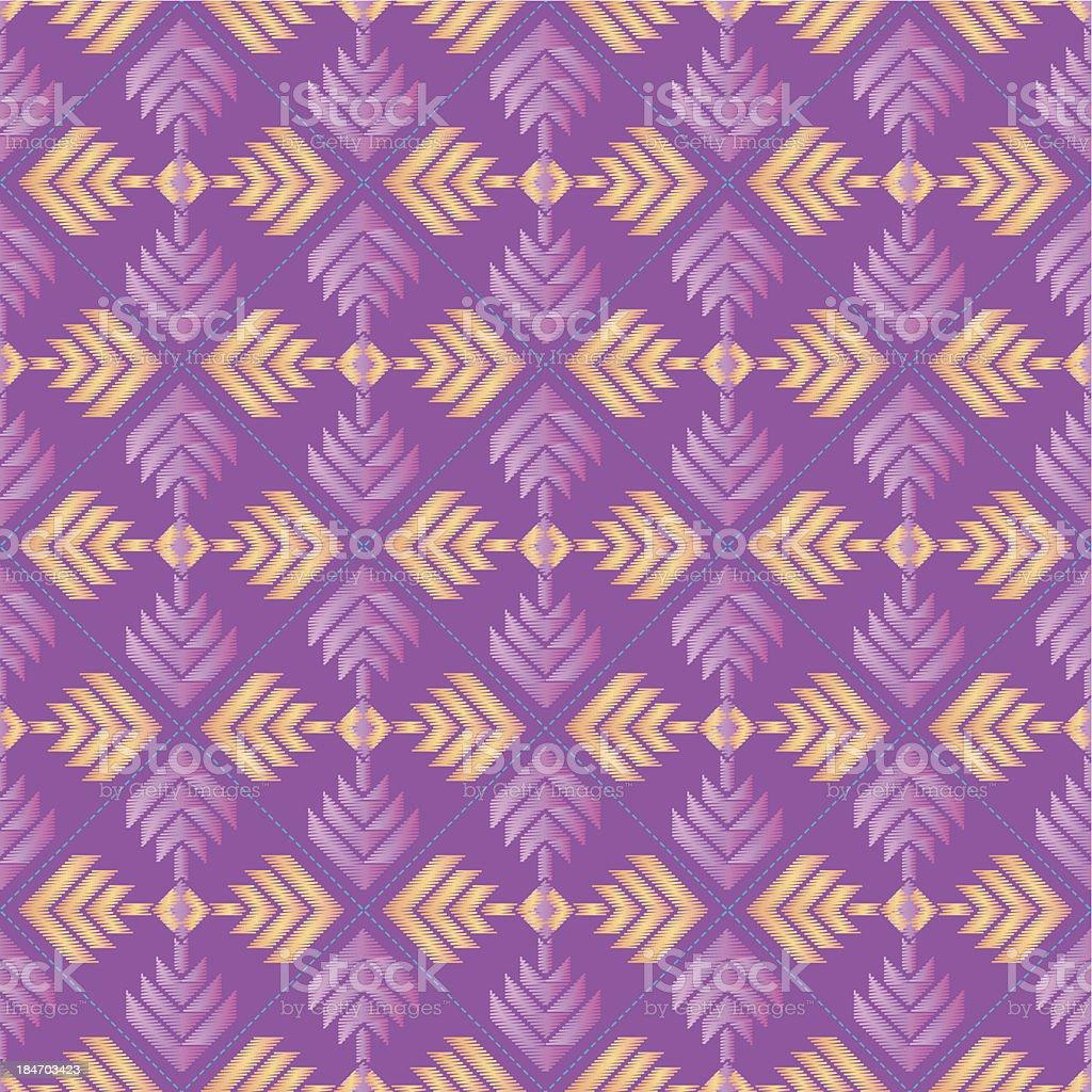 Ilustração de Bordado Repetir Padrão Geométrico Em Tons De Rosa Roxo ... 9b9e2fa843eef
