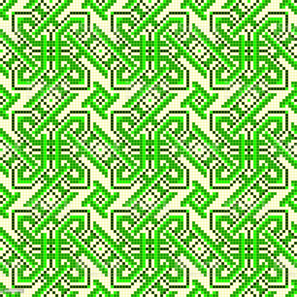 gut bestickt wie alte Handarbeit Kreuzstich ethnischen Ukraine Muster - Lizenzfrei Abstrakt Vektorgrafik