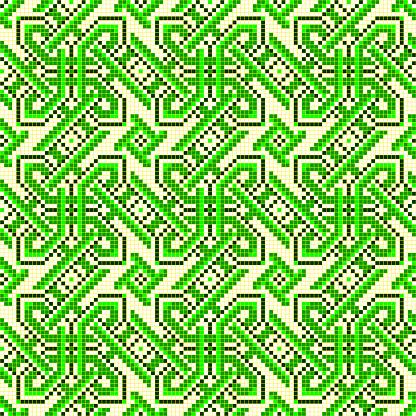 Gut Bestickt Wie Alte Handarbeit Kreuzstich Ethnischen Ukraine Muster Stock Vektor Art und mehr Bilder von Abstrakt