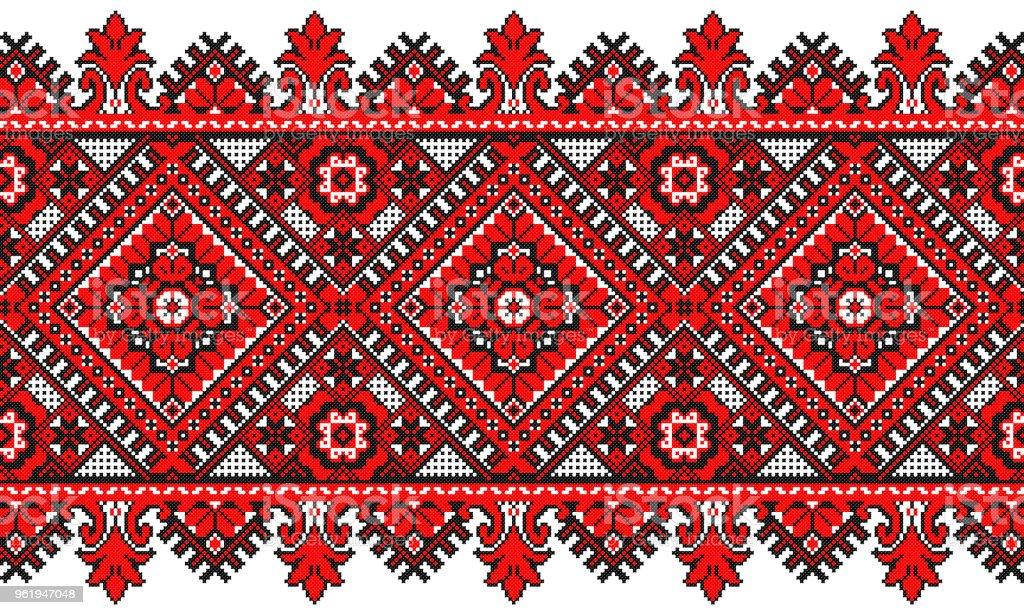 Ilustración de Bordado De Bueno Como El Viejo Patrón De Ucrania ...