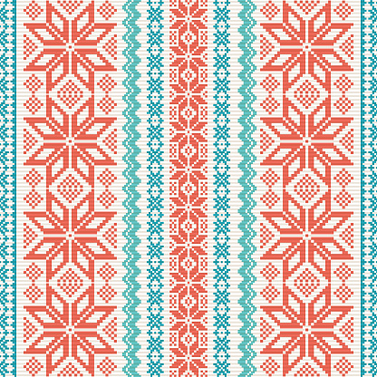 Embroidered ornamental pattern