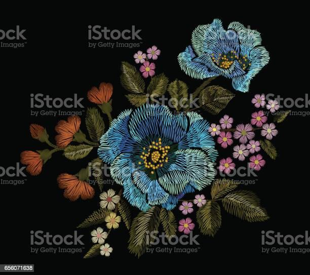 Embroidery colorful floral patch with blue poppy and daisy paisley vector id656071638?b=1&k=6&m=656071638&s=612x612&h=ne7nvan6ewkrekbccavqwalqk dhz bymtr5yta1zpa=