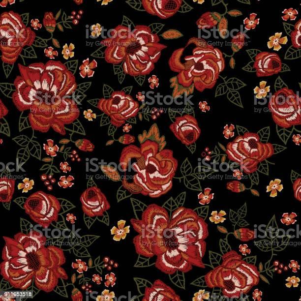 Embroidery ethnic seamless pattern with red roses vector id911653518?b=1&k=6&m=911653518&s=612x612&h=rowc 4tehksauuq0zqwwbmxrnfdmkvaznbfj15hssr0=