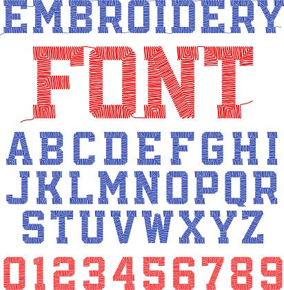 刺しゅうのフォント - アルファベットのベクターアート素材や画像を多数ご用意