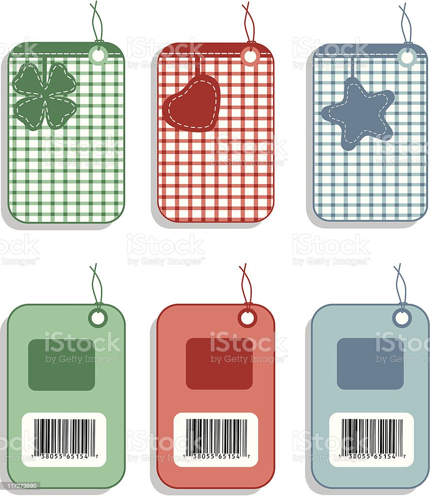 Embroidery Labels royalty-free stock vector art