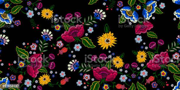 Embroidery native seamless pattern with simplify flowers vector id911653192?b=1&k=6&m=911653192&s=612x612&h=6kkzvm7ppugqwdkjh9mn6ss5o1e11v08bavunwahxgk=
