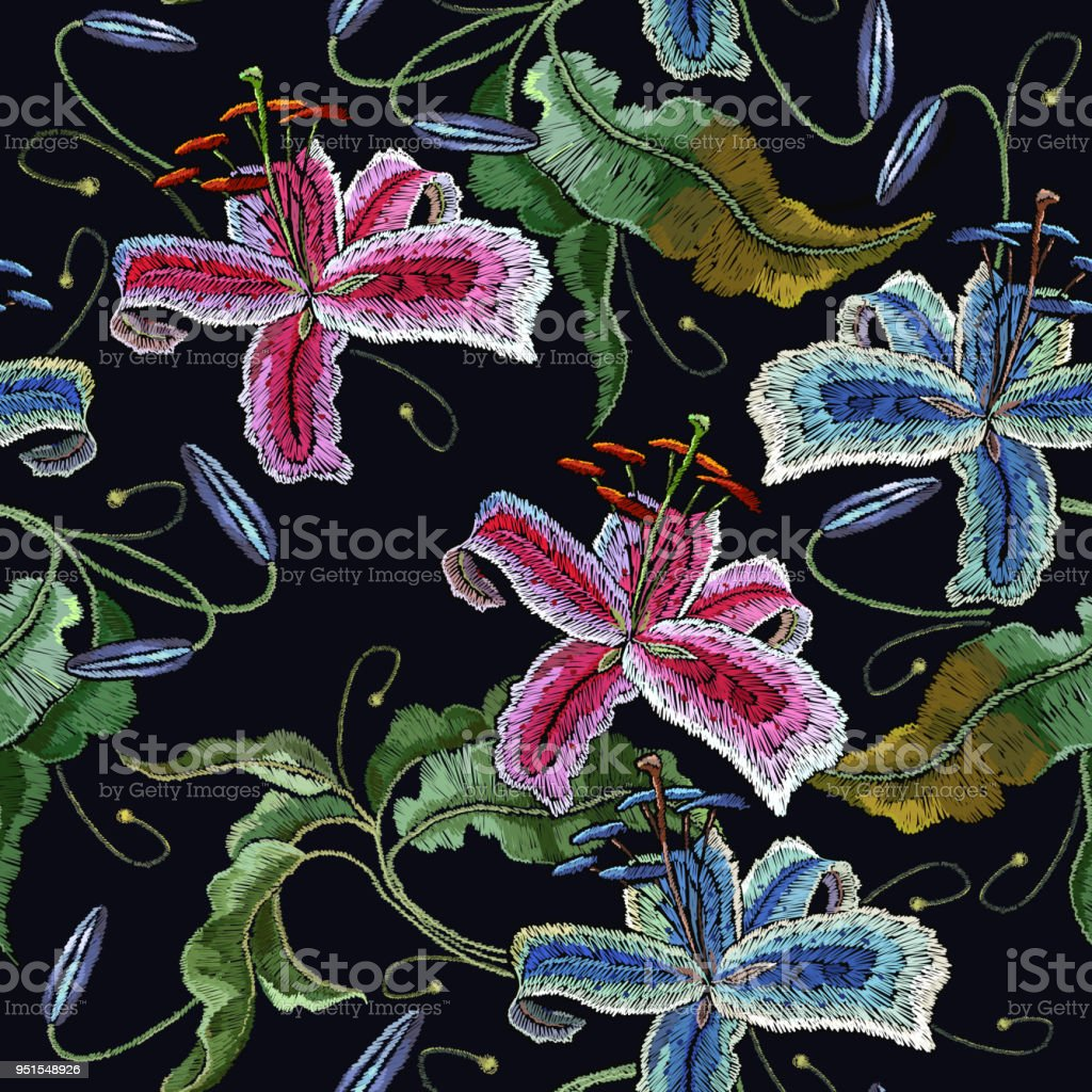 Embroidery orchid exotic tropical flowers beautiful classical embroidery orchid exotic tropical flowers beautiful classical embroidery summer orchids flowers template for izmirmasajfo