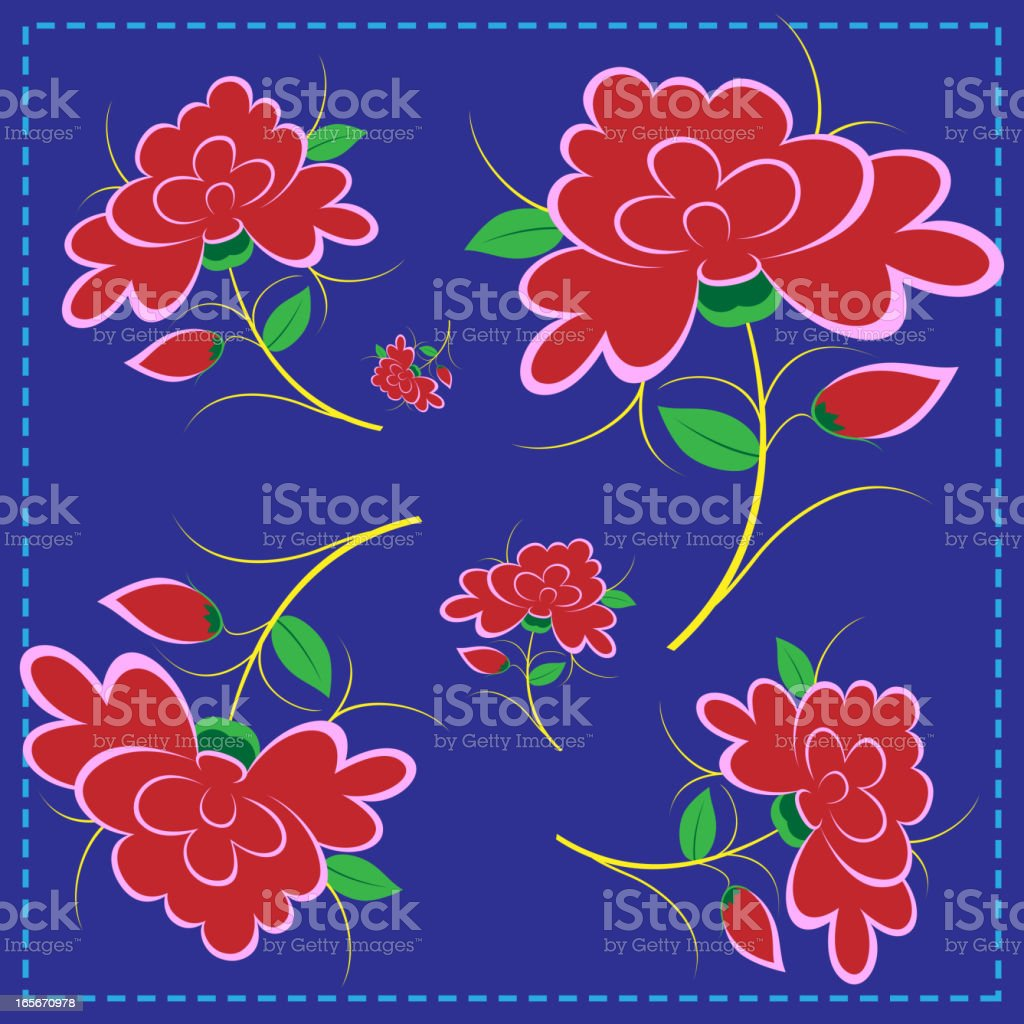 Embroidery Pattern of Ethnic Minority vector art illustration
