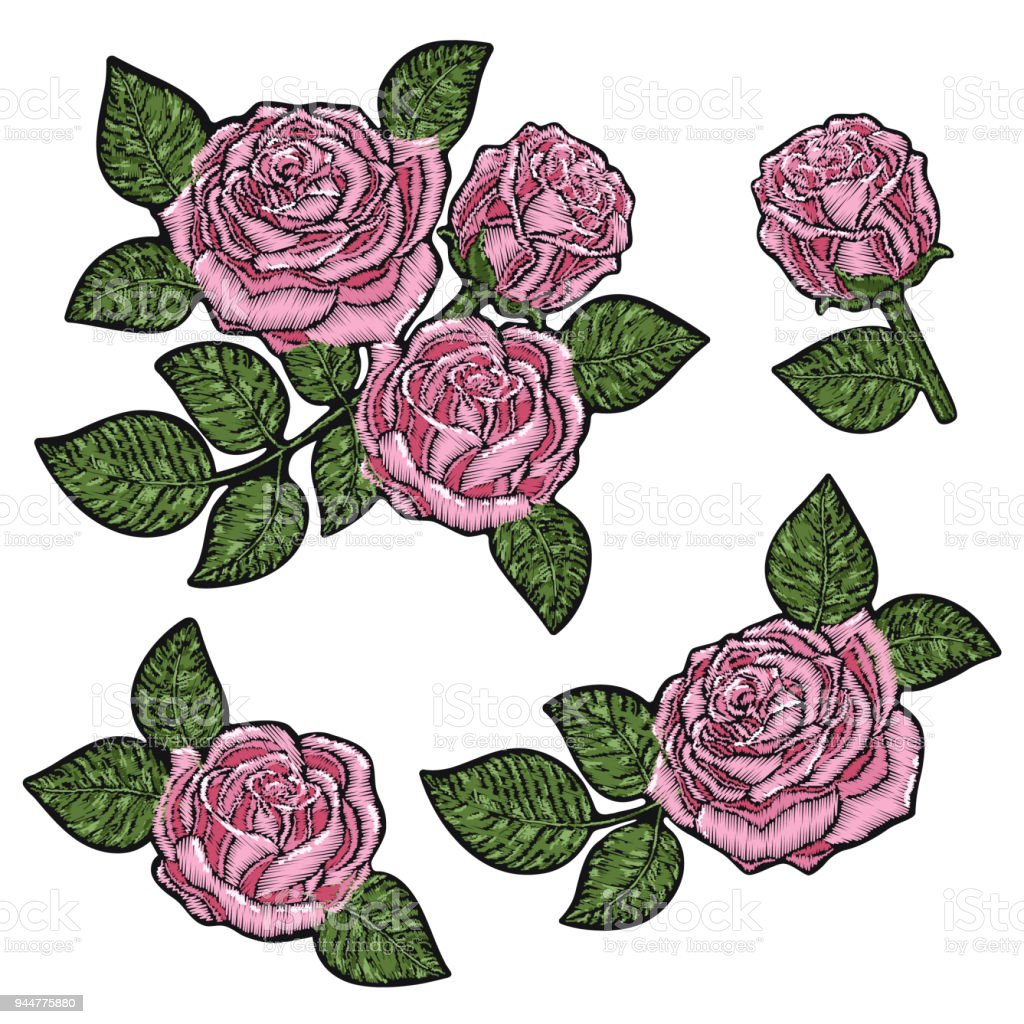 embroidery pattern texture wallpaper background with beautiful pink