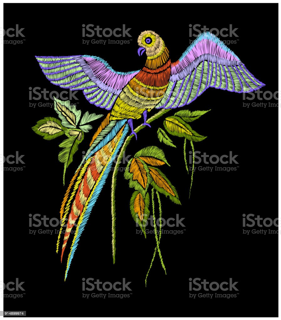 Embroidery Pattern With Parrot And Tropical Leaves Vector Illustration Hand Drawn Tshirt Print Design Stock Illustration Download Image Now Istock 1920 x 1920 jpeg 1468 кб. https www istockphoto com vector embroidery pattern with parrot and tropical leaves vector illustration hand drawn t gm914899974 251801145