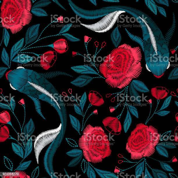 Embroidery seamless pattern with beautiful ethnic koi fish vector vector id924318270?b=1&k=6&m=924318270&s=612x612&h=xhpzmyvfay3g4hchqb4yz bnzrv0dxup7b7bnqpqi6e=