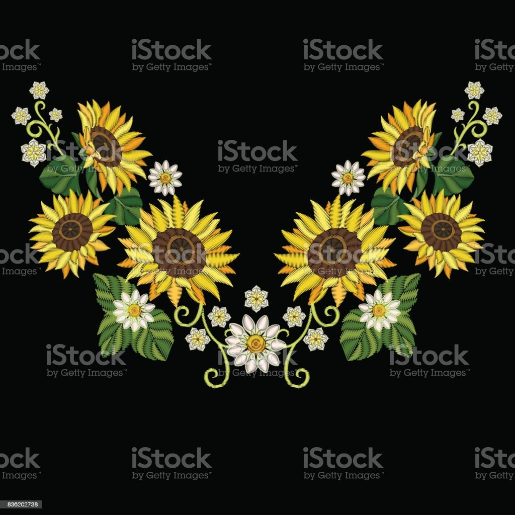 Embroidery sunflowers and daisy flowers stock vector art more embroidery sunflowers and daisy flowers royalty free embroidery sunflowers and daisy flowers stock vector art izmirmasajfo