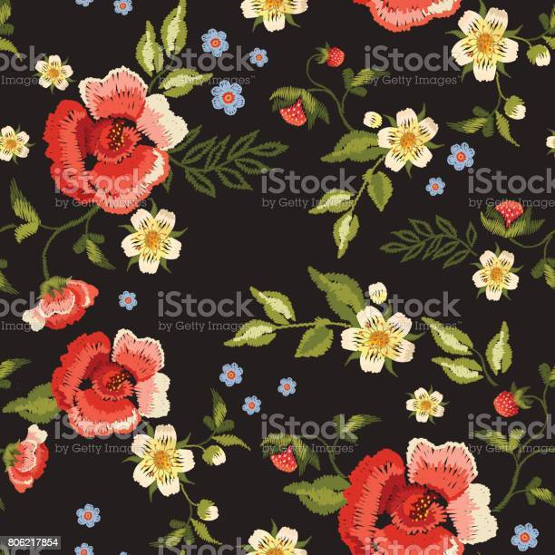 Embroidery traditional folk seamless pattern with red roses and vector id806217854?b=1&k=6&m=806217854&s=612x612&h=tvwdufz ugddq7fsvk3tuedr3s0k8cf6zre03qgvsqi=
