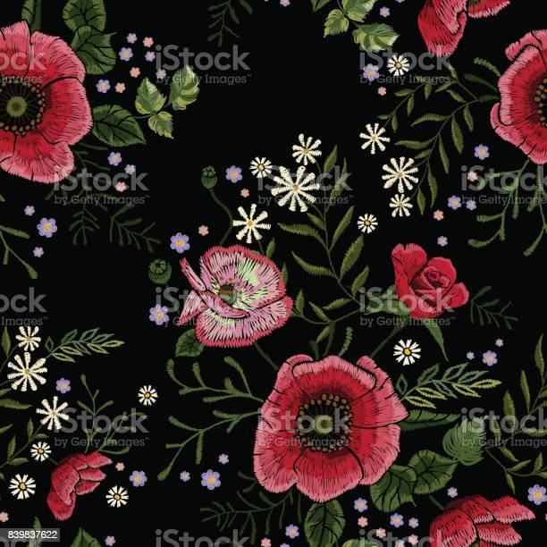 Embroidery traditional seamless pattern with red poppies and vector id839837622?b=1&k=6&m=839837622&s=612x612&h=cbc zqk5lqxovpmpxtqvh0punium9qbwii2vfxmf5w4=