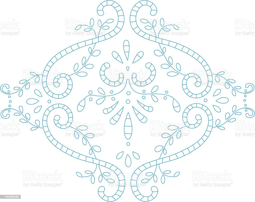 embroidery royalty-free stock vector art
